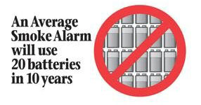 no need to replace batteries in smoke alarm