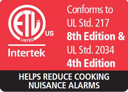 smoke alarm ul 217 and ul 2034 standard compliant
