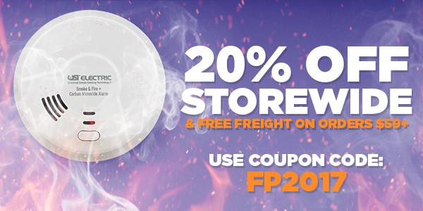 20% Off smoke and co detectors - Storewide Sale