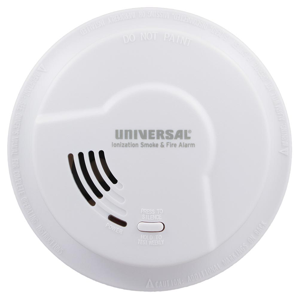 Usi Quick Change Battery Operated Ionization Smoke Fire Alarm