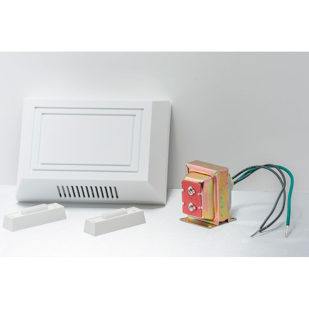 Electric Builder Wired-In Dual Tone Chime Kit with One Push Button ...