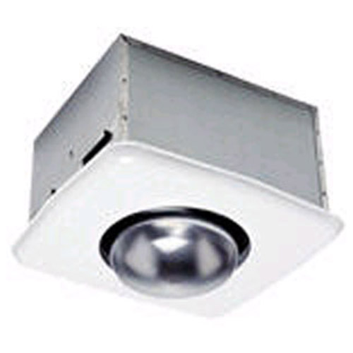 Bathroom exhaust fan with heat lamp for Heat bathroom