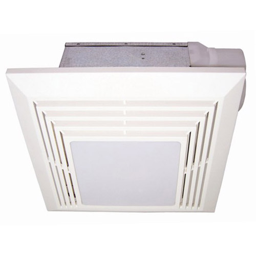 USI Electric Bath Exhaust Fan with Custom-Designed Motor and 26-Watt Fluorescent Light, 90 CFM (BF-904LF)