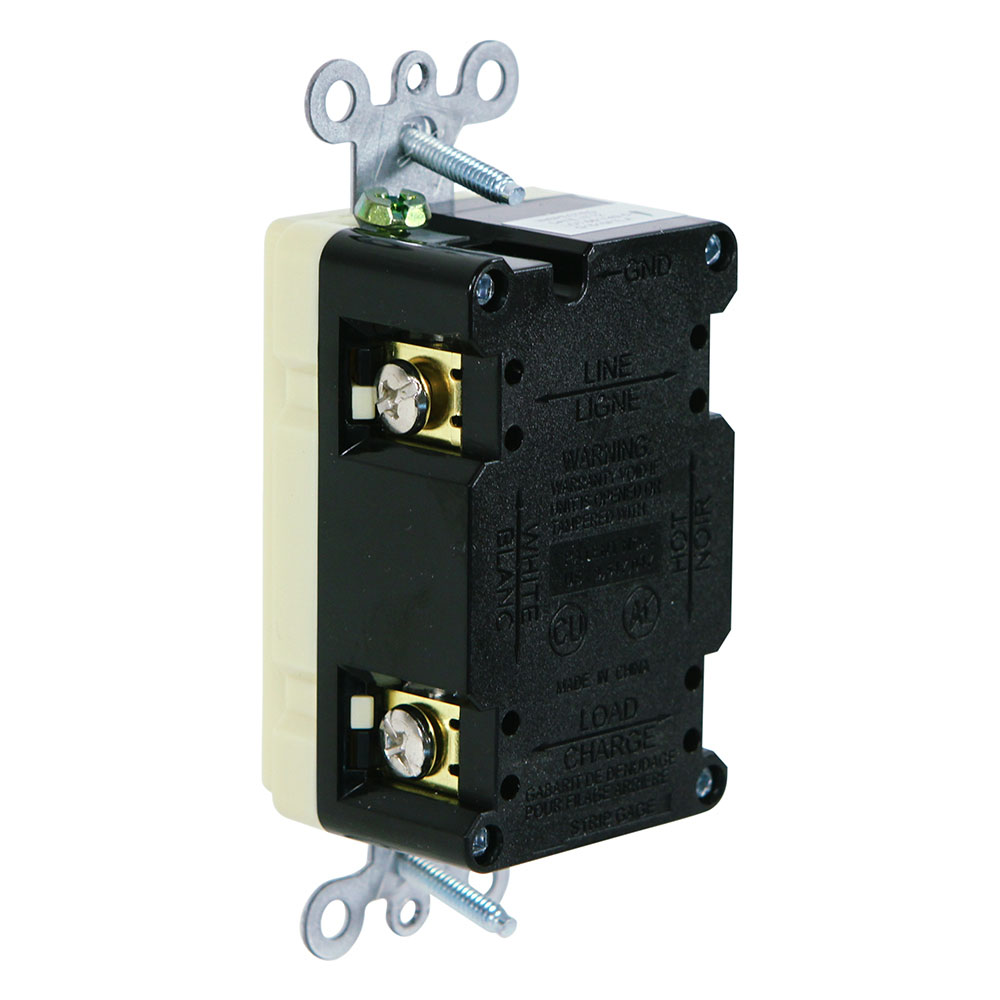 Usi G1315triv Electric 15 Amp Self Test Gfci Tamper Resistant How To Ground Fault Circuit Interrupter Receptacle Duplex Outlet Ivory