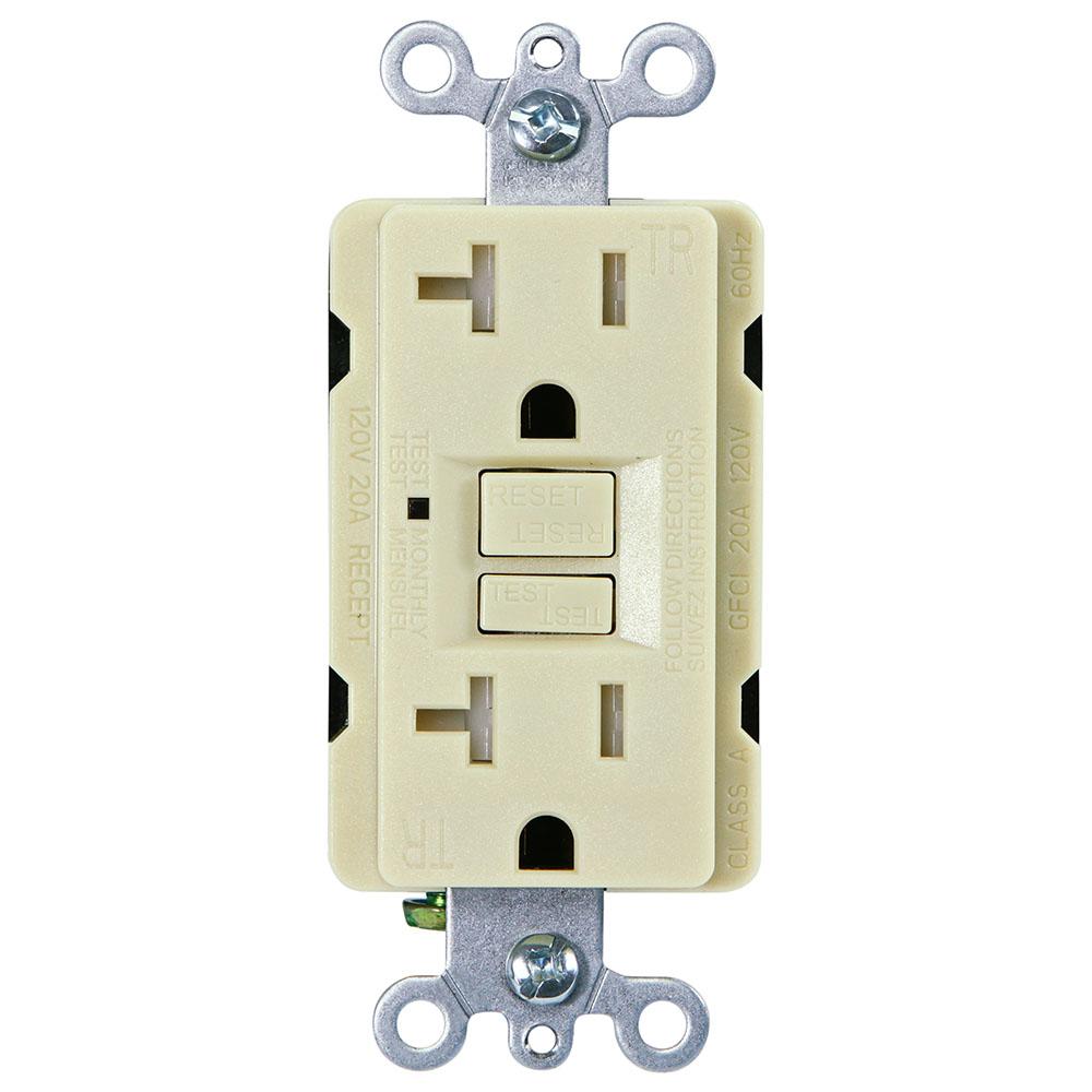 USI G1320TRIV Electric 20 Amp Self Test GFCI Tamper-Resistant ...