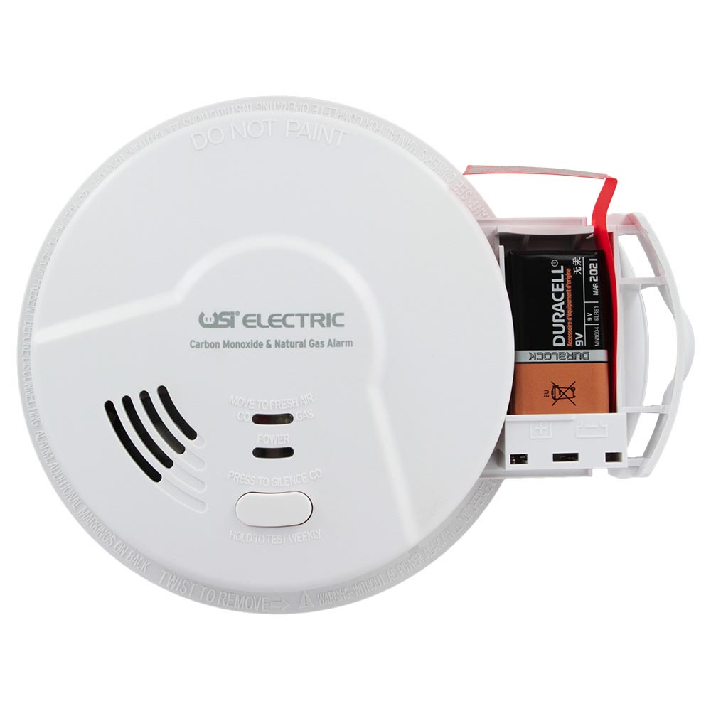USI Electric Hardwired 2-in-1 Carbon Monoxide and Natural Gas Smart Alarm with Battery Backup (MCN108)