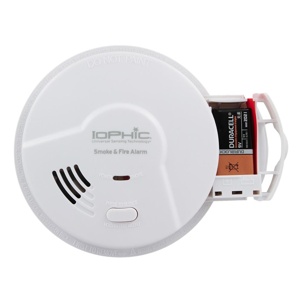 Universal Security Instruments Battery-Operated Universal Smoke Sensing Smoke and Fire Alarm (MDS300B)