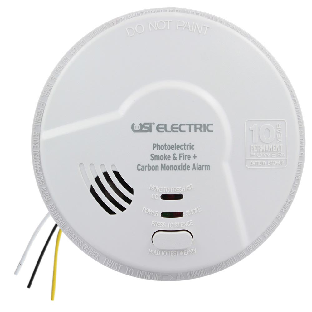 USI Hardwired 2-in-1 Photoelectric Smoke & Carbon Monoxide Alarm with 10 Year Tamper Proof Sealed Battery Backup (MPC122S)
