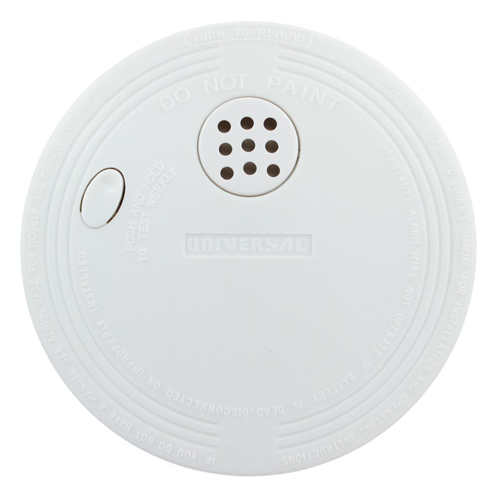 Compact Size Battery-Operated Ionization Smoke and Fire Alarm