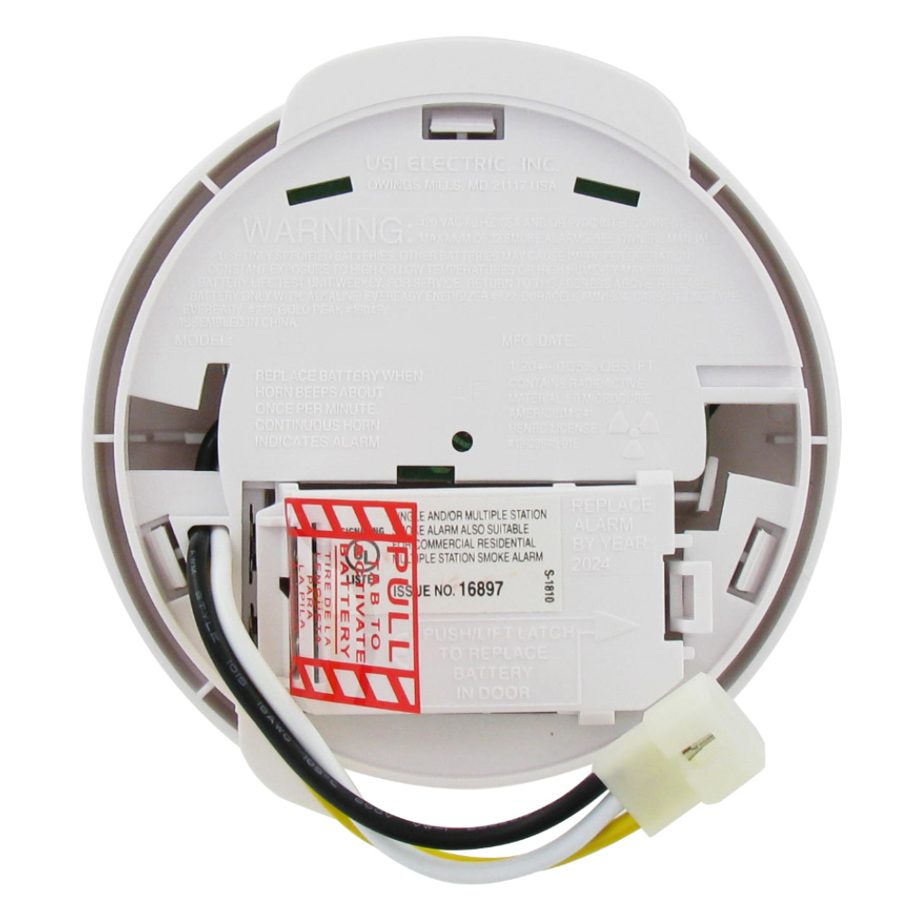 Universal Security Instruments Usi 1209 Ionization 120 Volt Ac Dc Wiring Smoke Alarms Together Wired In And Fire