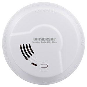 USI Quick Change Battery-Operated Ionization Smoke & Fire Alarm (976LR)