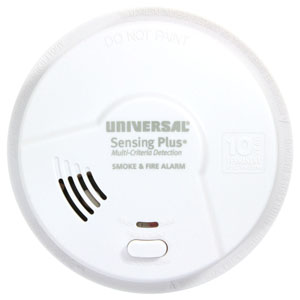 USI Sensing Plus AMIB3051SC Bedroom Smoke & Fire Alarm With 10 Year Battery