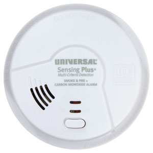 USI Sensing Plus AMICH3511SC Hallway Smoke, Fire & CO Alarm, 10 Year Battery