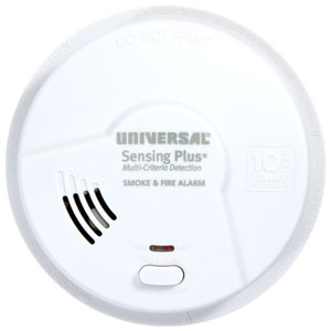 USI Sensing Plus AMIL3051SC Living Area Smoke & Fire Alarm With 10 Year Battery