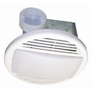 USI Electric Bath Exhaust Fan with Custom-Designed Motor and 26-Watt Fluorescent