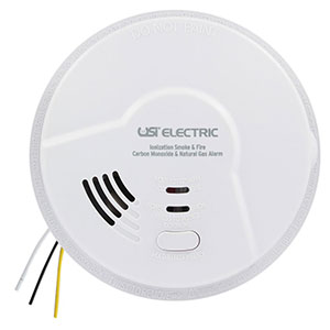 USI 4-in-1 Hardwired Smart Alarm with Smoke, Fire, CO and Gas Detection MDSCN111