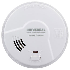 USI Kitchen 2-in-1 Smoke & Fire Smart Alarm with 10 year Sealed Battery & Universal Smoke Sensing  Technology (MDSK300S)