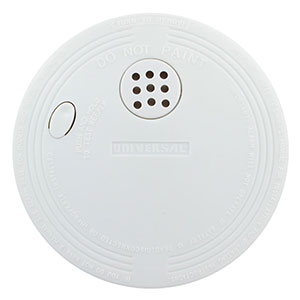 Universal Security Instruments Compact Size Battery-Operated Ionization Smoke and Fire Alarm (SS-770-24CC)