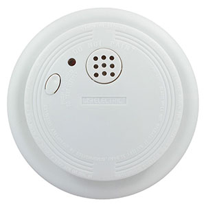USI Electric Battery-Operated Ionization Smoke and Fire Alarm (USI-1227L)